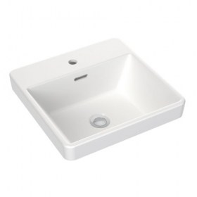 Clark Square Inset Basin with tap 400mm