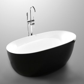Lorenzo Black White Freestanding Bath