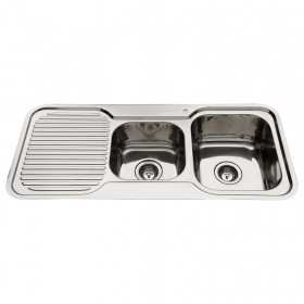 Nugleam RH One and three quarter bowl with drainer